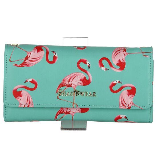Shagwear Flamingo Turquoise Clutch Tasje