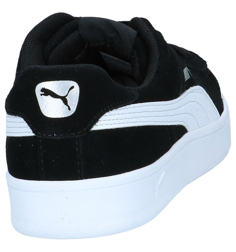 Zwarte Sneakers Puma Court Breaker Derby in daim (239356)
