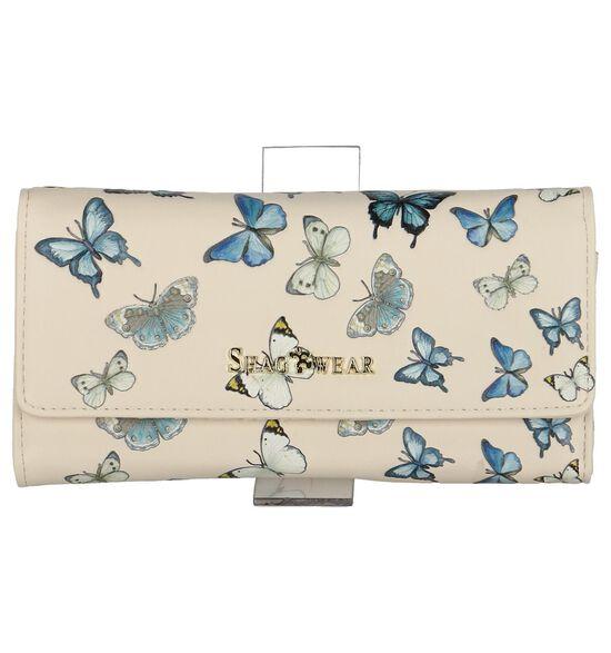 Lichtbeige Clutch Tasje Shagwear Butterflies
