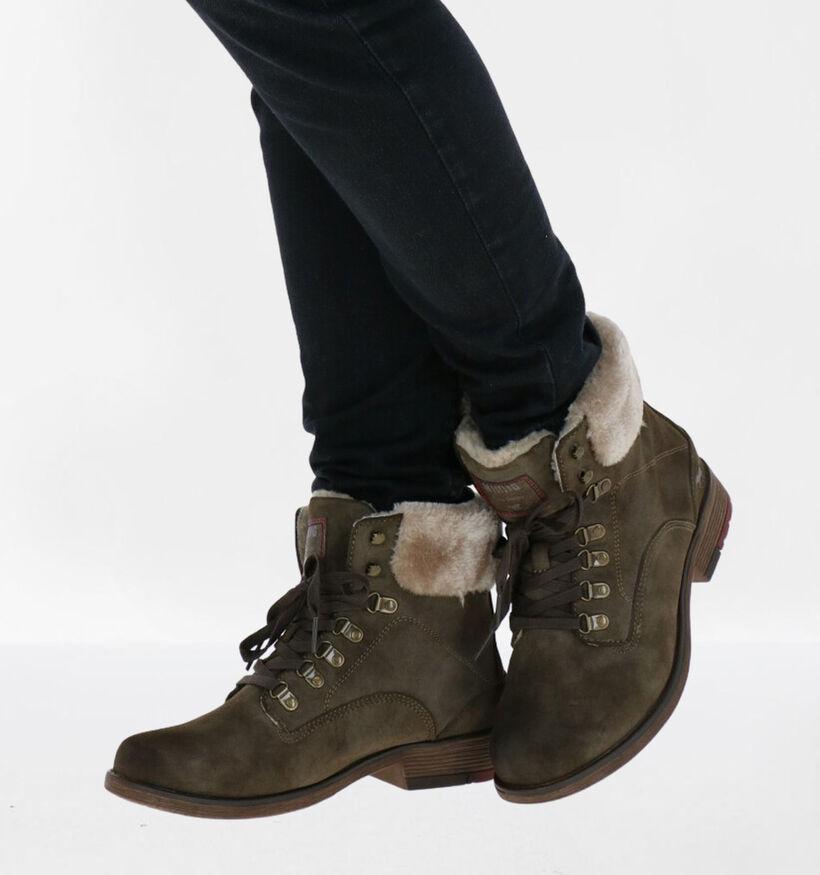 Mustang Cognac Boots in kunstleer (280943)