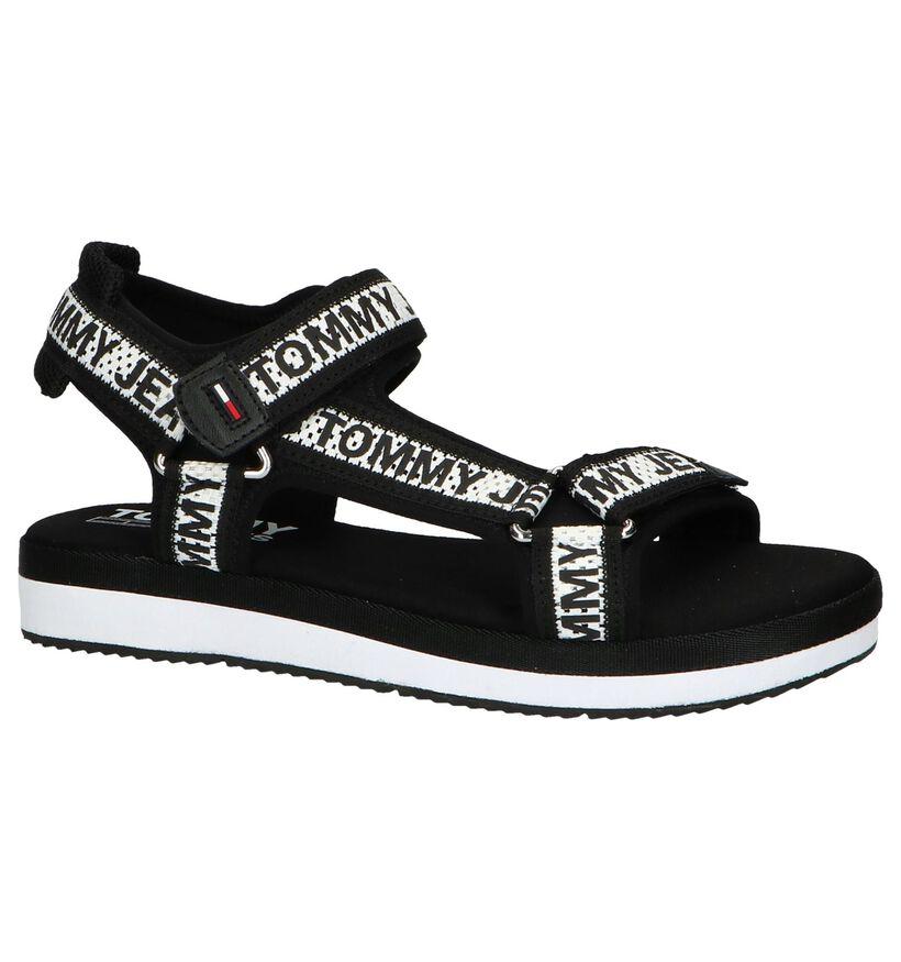 Zwart/Witte Sandalen Tommy Hilfiger in stof (241768)