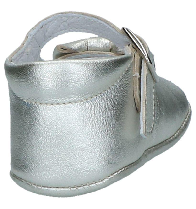Zilveren Babypantoffels Beberlis in leer (245707)