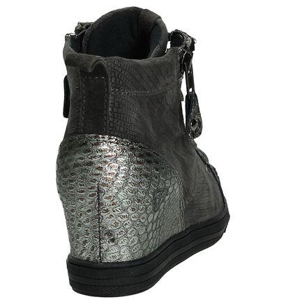 Tamaris Sneaker Taupe met Slangenprint, Taupe, pdp