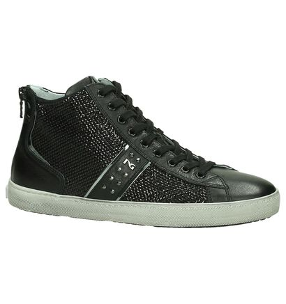 NeroGiardini Zwarte Hoge Sneakers, Zwart, pdp