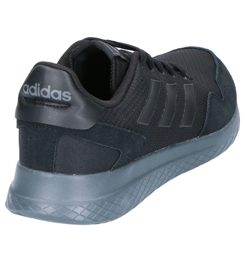 adidas Archivo Zwarte Sneakers in stof (252498)