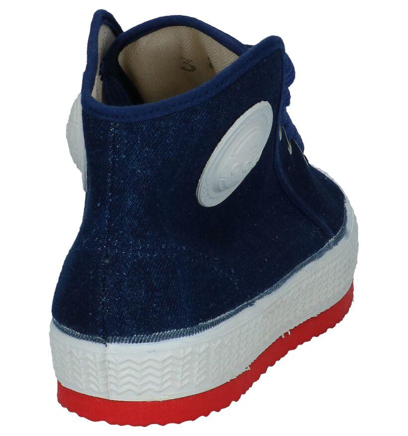 0051 Jeans Zwarte Sneakers in stof (294650)