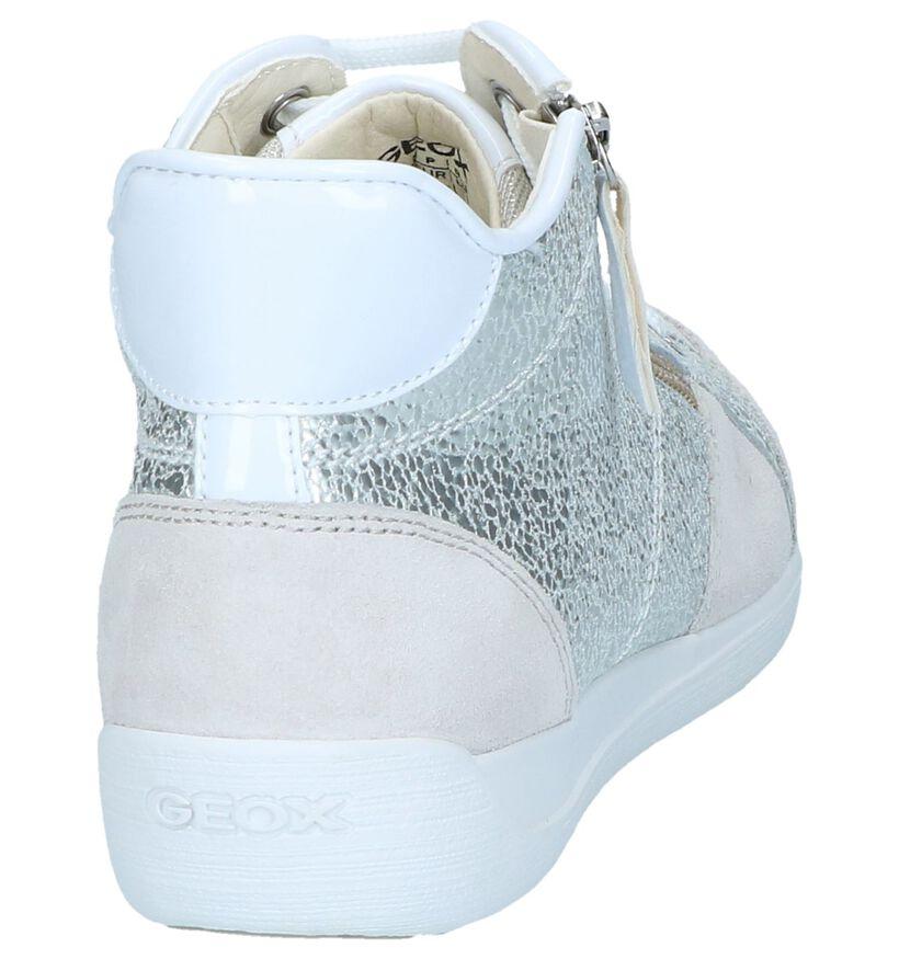 Zilveren Geklede Sneakers Geox Myria in kunstleer (240303)