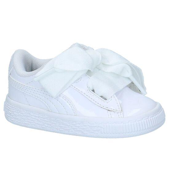 Puma Basket Heart Patent Witte Sneakers