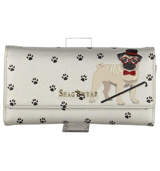 Zilveren Clutch Tasje Shagwear Pug Life