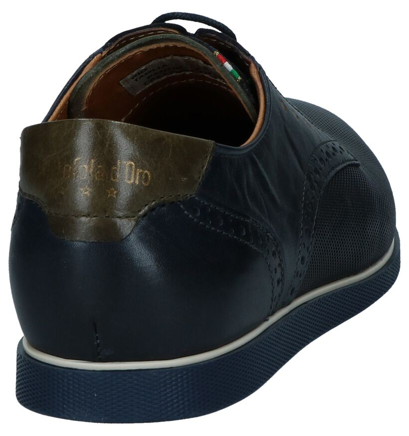 Donkerblauwe Nette Veterschoenen Pantofola d'Oro in leer (240868)
