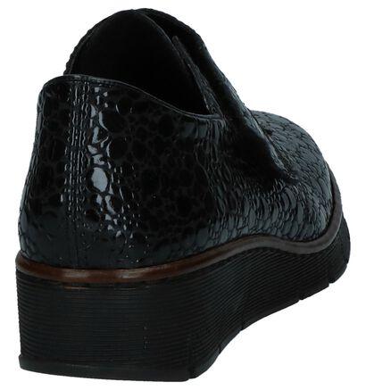 Zwarte Laké Schoenen met Klittenband Rieker, Zwart, pdp