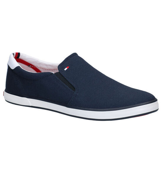 Tommy Hilfiger Iconic Blauwe Instappers