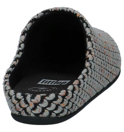 FitFlop Chrissie Knit Slipper Zwarte Pantoffels, Grijs, pdp