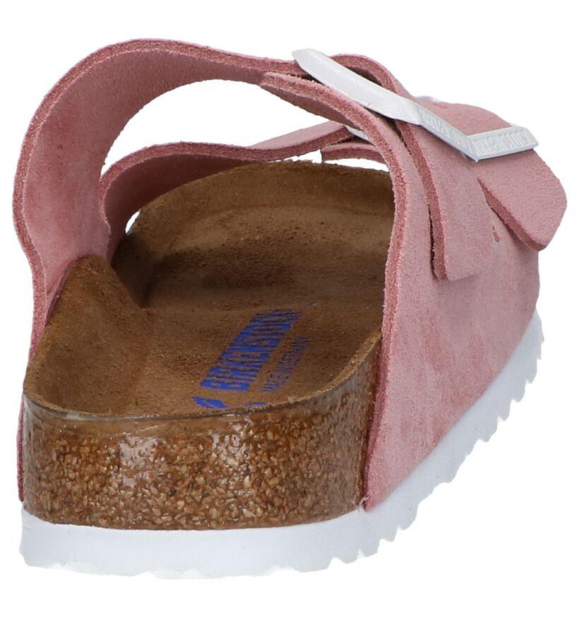 Roze Slippers Birkenstock Arizona in kunstleer (242613)