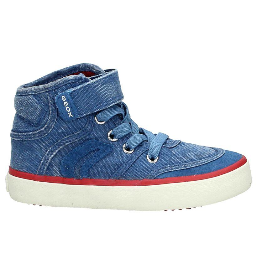 Geox Blauwe Hoge Sneaker in stof (170510)
