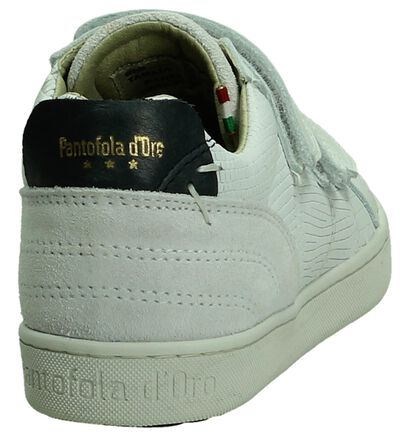 Schoen met Klittenband Wit Pantofola d'Oro in leer (195035)