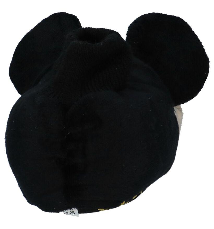 Mickey Mouse Sini Zwarte Pantoffels in stof (226416)