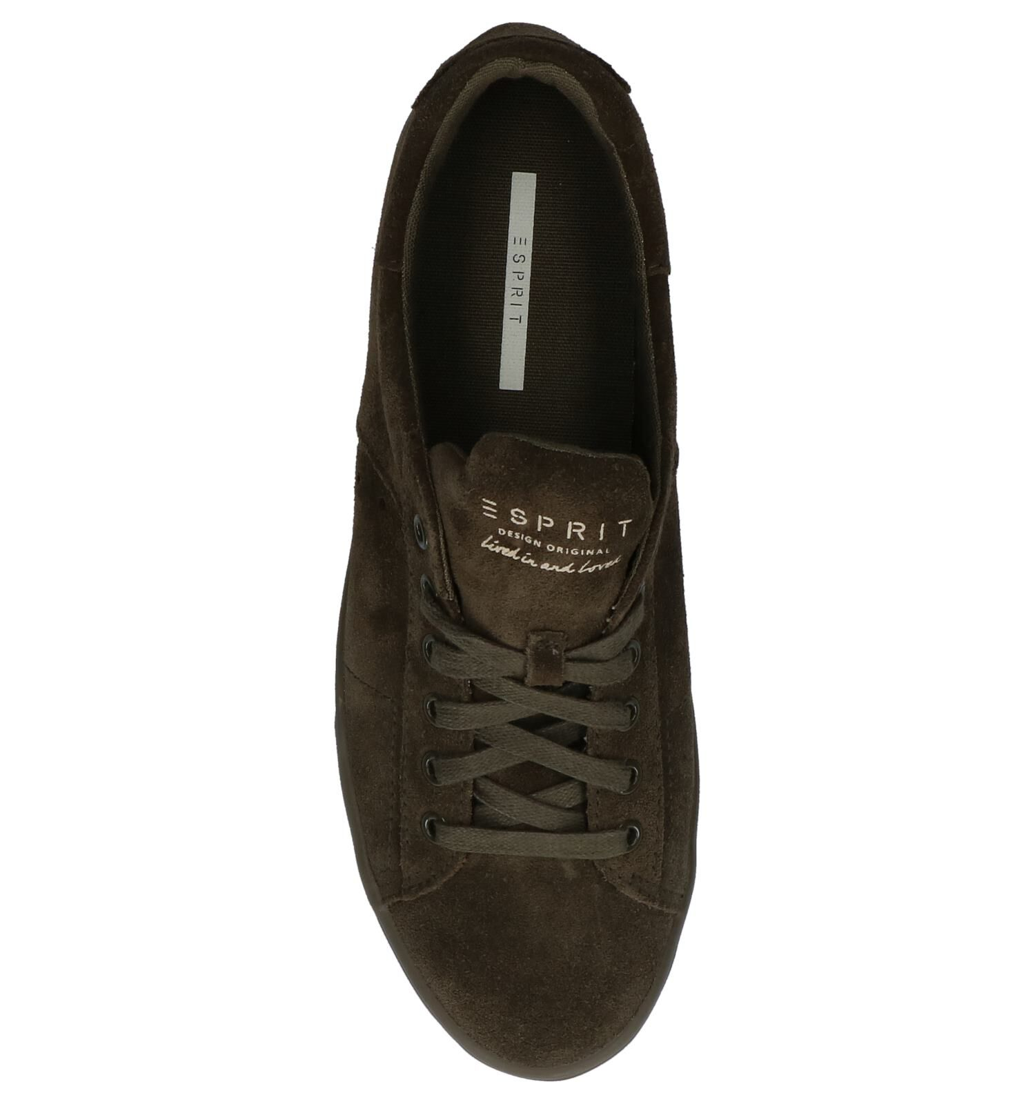 Esprit Sita Lace Up Kaki Geklede Sneakers