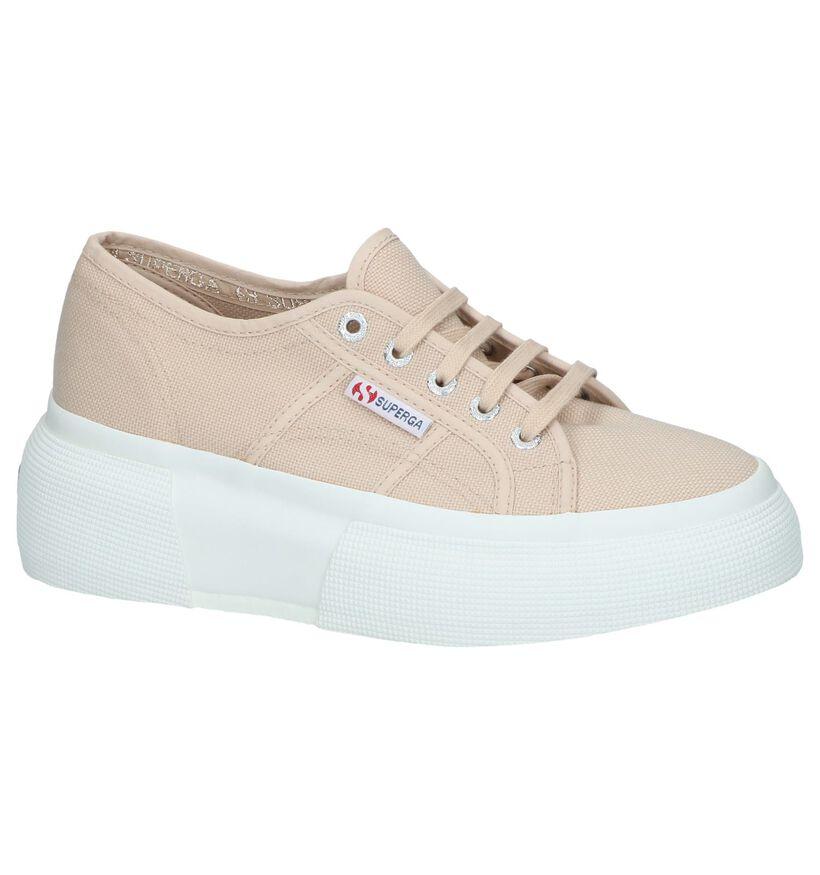 Witte Lage Sneakers Superga in stof (243132)