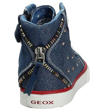 Geox Beige Sneakers Hoog in stof (190707)