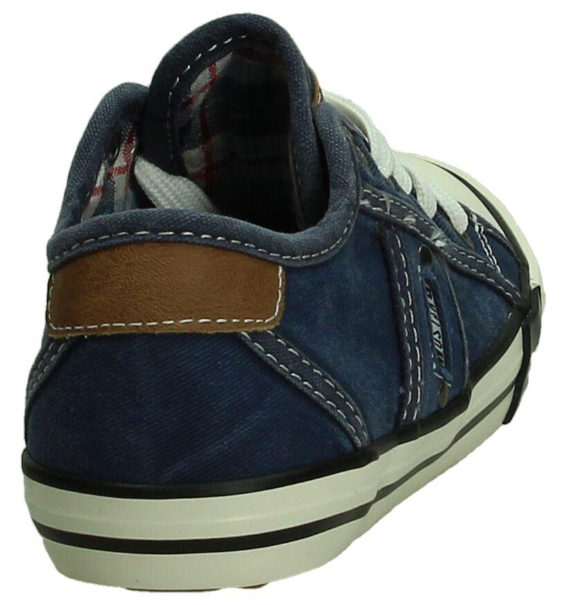 Mustand Donker Blauwe Sneaker in stof (189770)