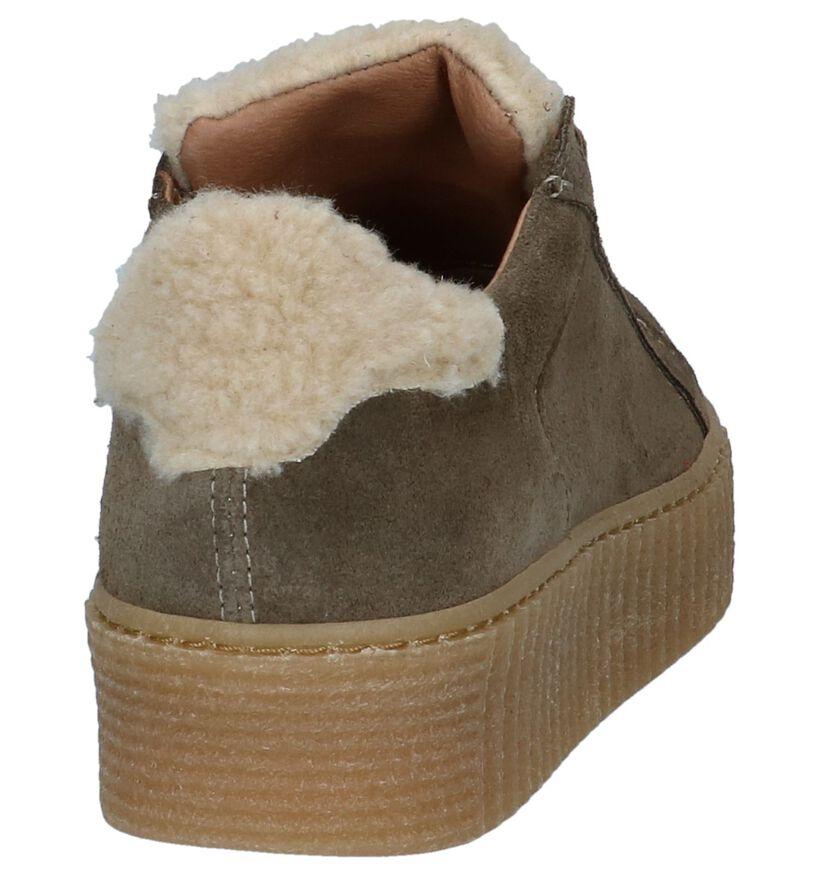 Scapa Kaki Sneakers Creepers in daim (227356)