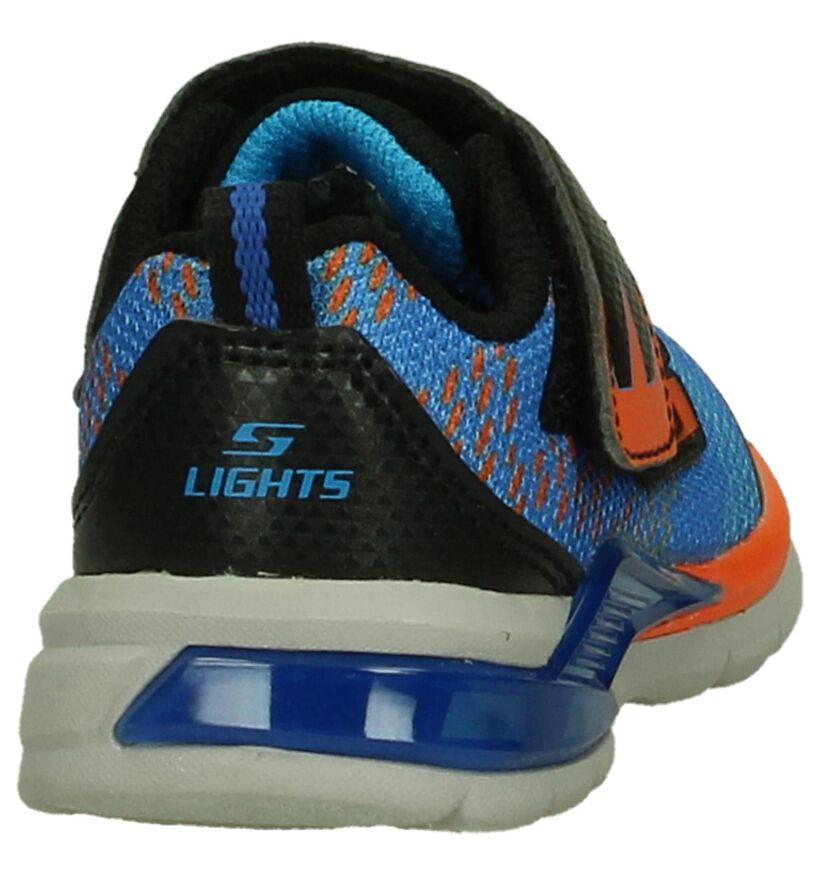 Skechers Babysneakers met Lichtjes Blauw in stof (202336)