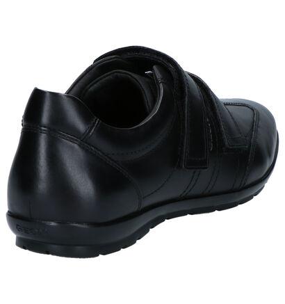 Geox Symbol Zwarte Schoenen met Klittenband in kunstleer (253681)
