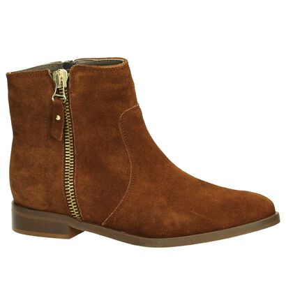Eye Cognac Boots in daim (181567)