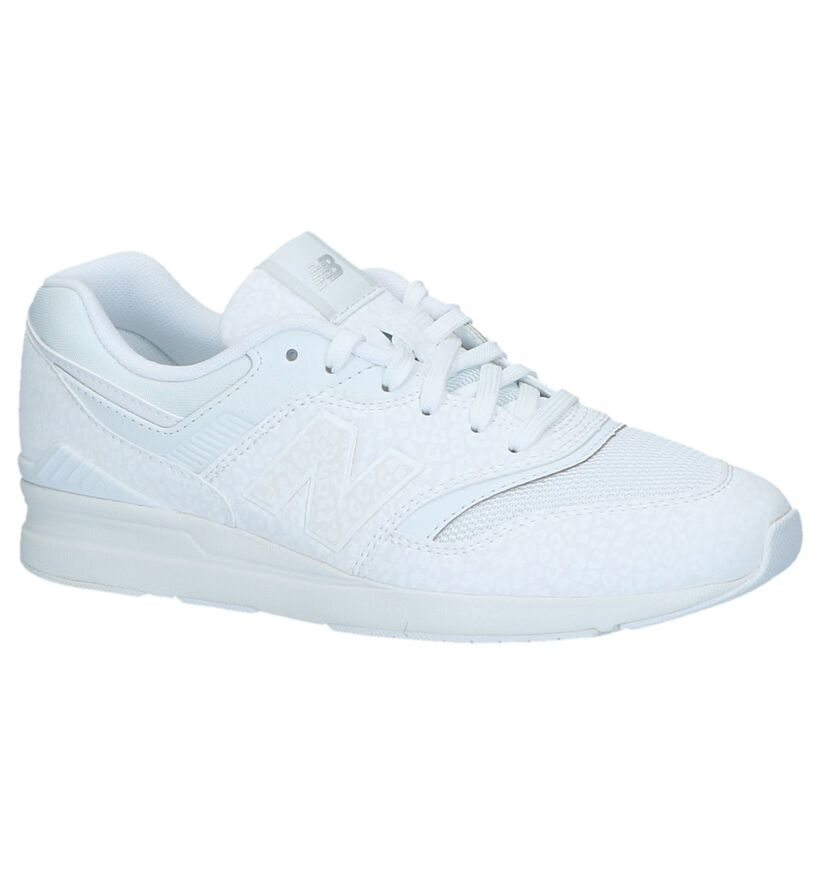 New Balance WL697 Witte Sneakers in kunstleer (220608)