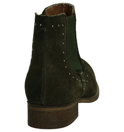 Miss Rose Kaki Chelsea Boots in daim (190282)