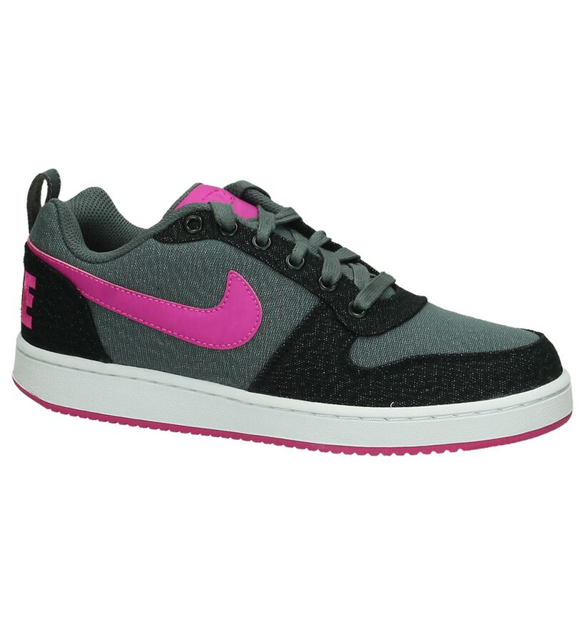 Grijs/Roze Sneaker Nike Court Borough in stof (198247)