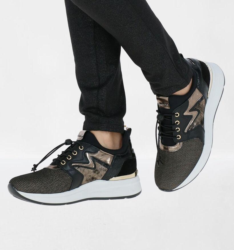 NeroGiardini Zwarte Slip-on Sneakers in leer (283173)