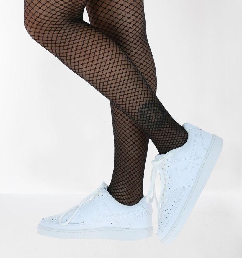 Nike Court Vision Zwarte Sneakers in kunstleer (262187)