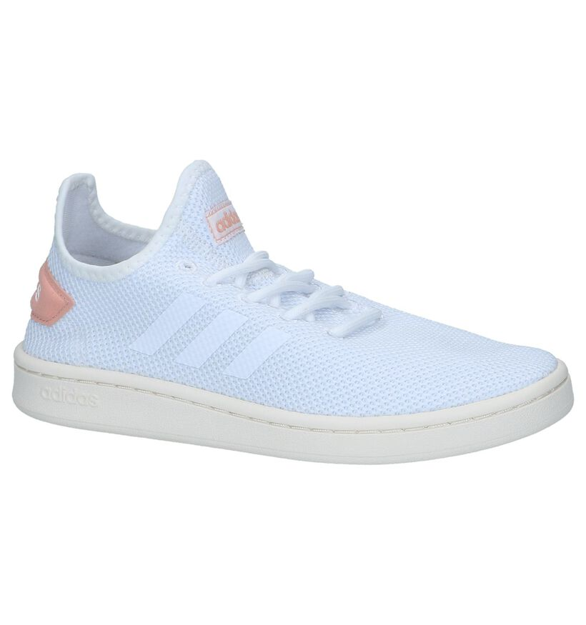 Witte Slip-on Sneakers Adidas Court Adapt in stof (237031)