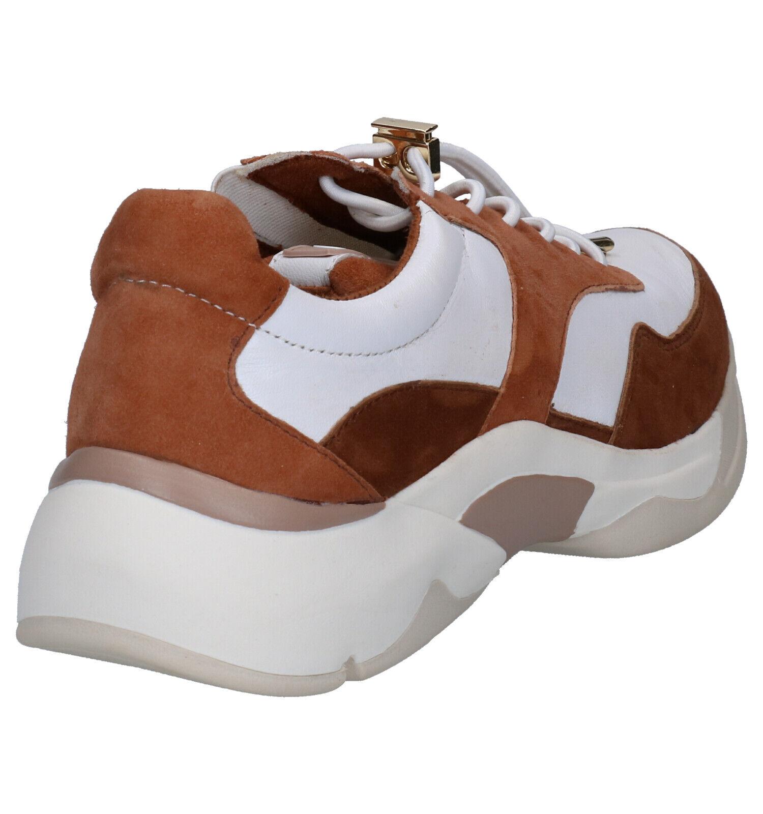 Tamaris Pure Relax Sneakers Wit/Cognac