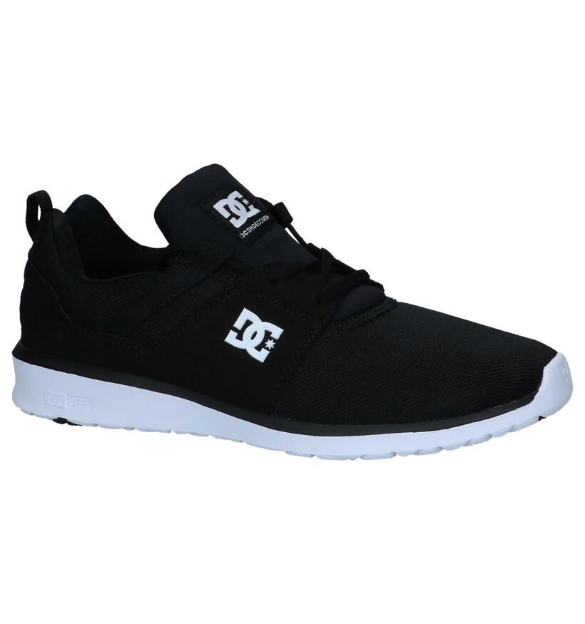 DC Shoes Heathrow Zwarte Sneakers in stof (223625)