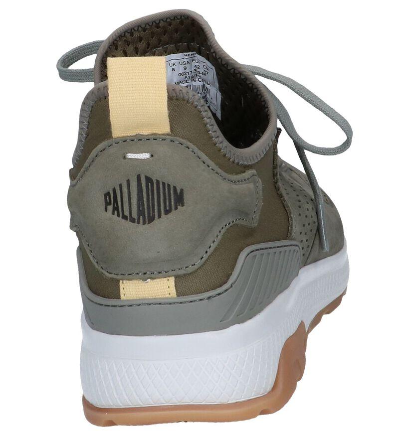 Kaki Slip-on Sneakers Palladium Axeon Native in stof (244068)
