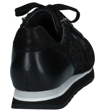 Zwarte Lage Sneakers Gabor Optifit in nubuck (231273)