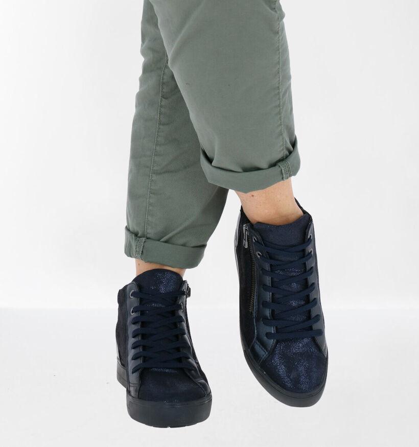 Mirel Zwarte Hoge Sneakers in leer (279835)
