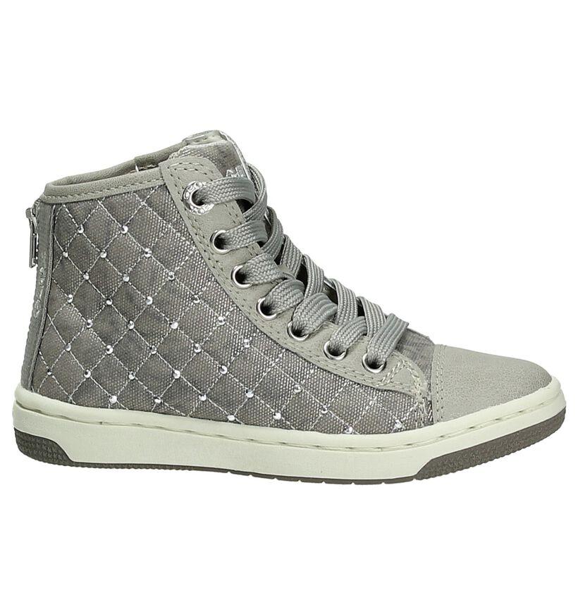 Grijze Hoge Sneaker Geox in stof (170548)