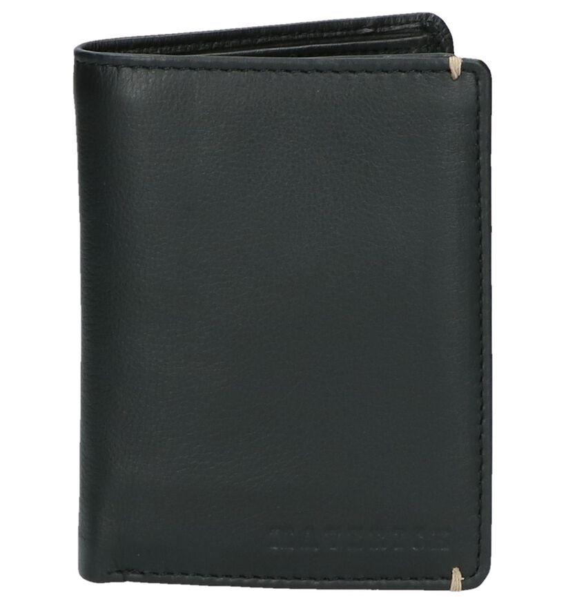 Zwarte Portefeuille Maverick in leer (222472)