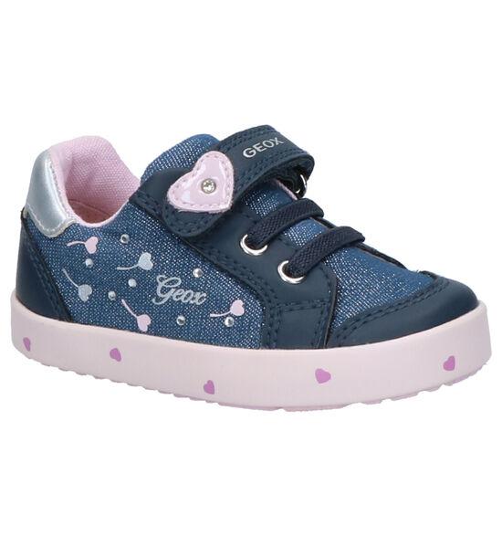 Geox Blauwe Schoenen met Klittenband