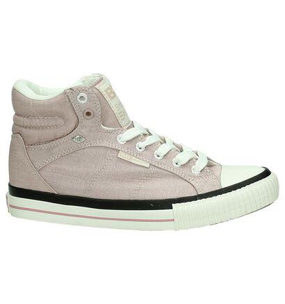 BK Grijze Hoge Sneaker, Roze, pdp