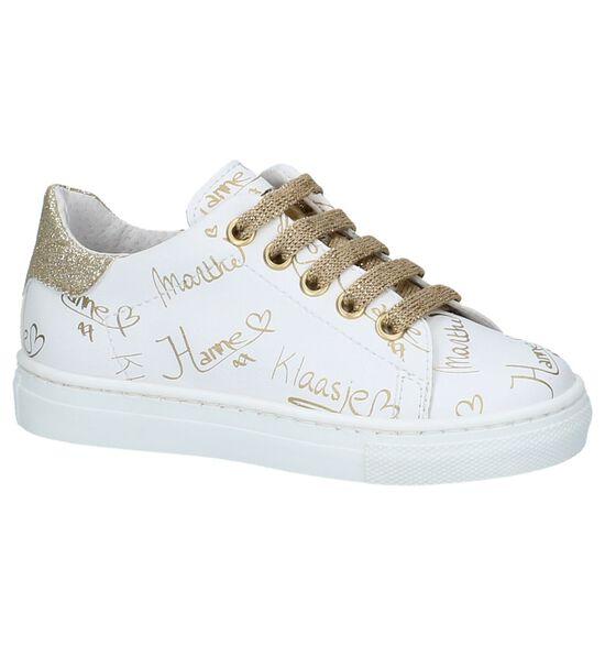 Witte Sneakers K3 by Torfs met Gouden Handtekeningen
