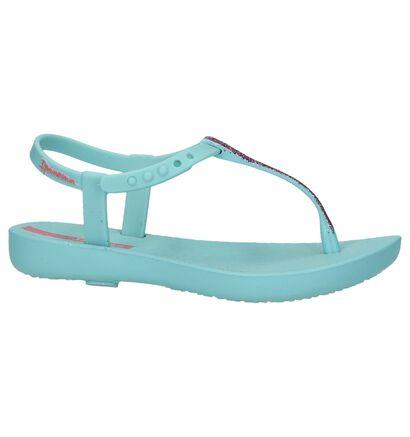 Turquoise Ipanema Charm Sandal met Roze Glitters, Turquoise, pdp