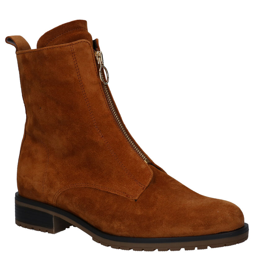 Gabor OptiFit Cognac Boots in daim (282471)