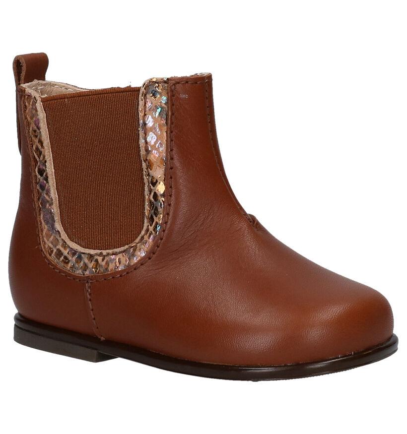 Beberlis Blauwe Chelsea Boots in leer (258919)