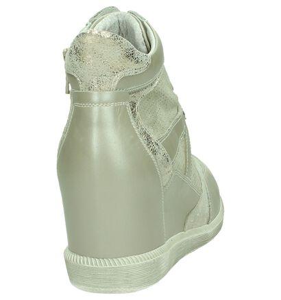 NeroGiardini Beige Sneakers met Sleehak , Beige, pdp