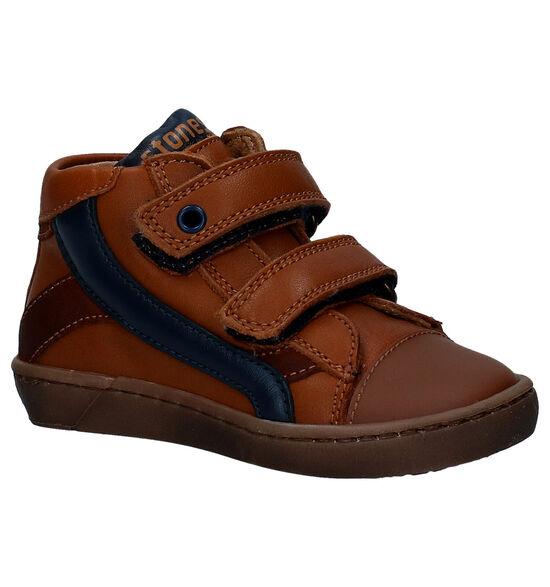 STONES and BONES Zeke Cognac Boots met Klittenband